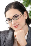 Portrait of thinking businesswoman Stock Photography