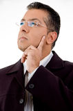 Portrait of thinking lawyer Royalty Free Stock Images