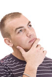 Portrait of thinking smiling man Stock Images