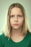 Portrait of a thinking teen girl royalty free stock photography
