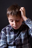 Portrait of thinking teenager Royalty Free Stock Images
