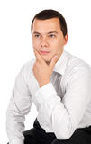 Portrait of thinking young businessman Royalty Free Stock Photos