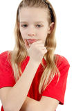 Portrait of thinking young girl Stock Photography