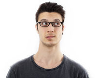 Portrait of thinking young man Royalty Free Stock Images
