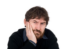 Portrait of the thoughtful bearded man Stock Images