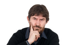 Portrait of the thoughtful bearded man Royalty Free Stock Photos
