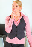 Portrait of thoughtful business woman Stock Images