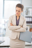Portrait of thoughtful business woman at work Stock Images