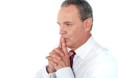 Portrait of thoughtful businessman Royalty Free Stock Image