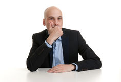 Portrait of a thoughtful businessman Stock Image