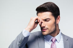 Portrait of a thoughtful businessman Stock Images
