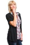 Portrait of thoughtful elderly woman Stock Photo