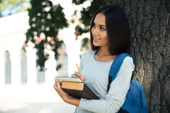 Portrait of a thoughtful female student Royalty Free Stock Photography