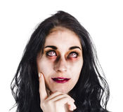 Thoughtful zombie Royalty Free Stock Photography