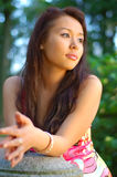 Portrait of thoughtful girl Stock Images