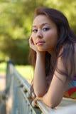 Portrait of thoughtful girl Stock Photo
