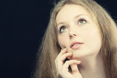 A portrait of the thoughtful girl Stock Images