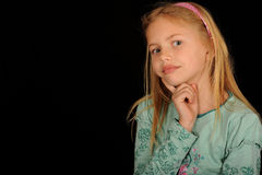 Portrait of thoughtful girl royalty free stock photo