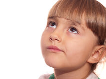 Portrait of thoughtful  little girl Royalty Free Stock Images