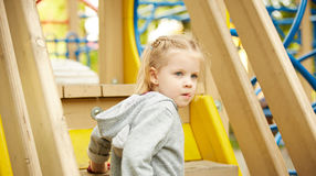 Portrait of a Thoughtful LIttle Girl Royalty Free Stock Images
