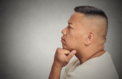 Portrait thoughtful middle aged man Royalty Free Stock Photography