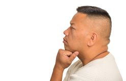 Portrait thoughtful middle aged man Stock Photography