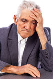 Portrait of a thoughtful old man Royalty Free Stock Images