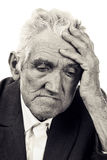 Portrait of a thoughtful old man Stock Images