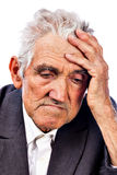 Portrait of a thoughtful old man Royalty Free Stock Image