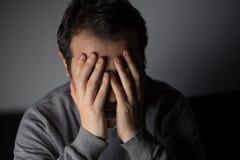 Portrait of thoughtful sad man Stock Photography