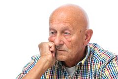 Portrait of a thoughtful senior Royalty Free Stock Photos
