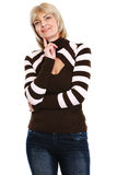 Portrait of thoughtful senior female Royalty Free Stock Image