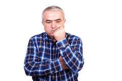 Portrait of a thoughtful senior man Royalty Free Stock Image