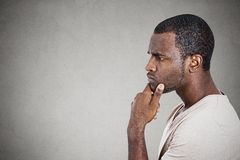 Portrait thoughtful young man Royalty Free Stock Photography