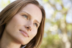 Portrait Of Thoughtful Young Woman Outdoors Royalty Free Stock Images