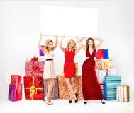Portrait of three adorable women Royalty Free Stock Image