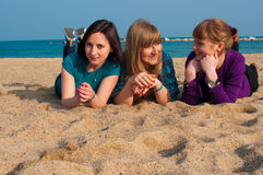 Portrait of three attraktive girls Stock Photography