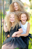 Portrait of a three  beautiful fashion  girls Royalty Free Stock Photo