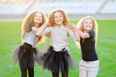 Portrait of a three  beautiful fashion  girls Royalty Free Stock Photos