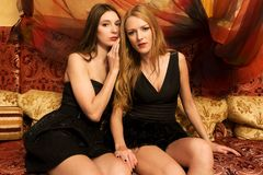 Portrait of a three beautiful women Royalty Free Stock Images