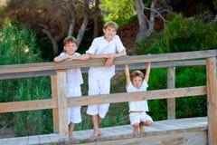 Portrait of three brothers Stock Image