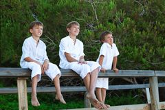 Portrait of three brothers Royalty Free Stock Photos