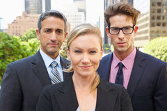 Portrait Of Three Business Colleagues Outside Office Royalty Free Stock Image