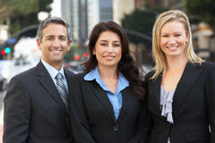 Portrait Of Three Business Colleagues Outside Office Royalty Free Stock Photos