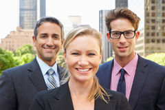 Portrait Of Three Business Colleagues Outside Offi Royalty Free Stock Images
