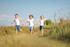 Portrait of three children playing Royalty Free Stock Photography