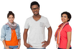 Portrait of three cool young friends Stock Image