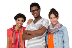 Portrait of three cool young friends Royalty Free Stock Images