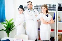 Portrait of three doctors Royalty Free Stock Photo