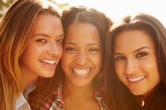 Portrait Of Three Female Friends On Holiday� Royalty Free Stock Images